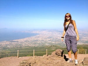 Franzi on top of the Vesuvius Crater